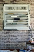 French themed wall mount book rack