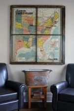 Vintage 1919 Eastern USA map window art
