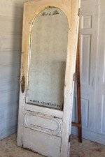 Special Edition vintage door standing mirror with arched top