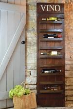 Barn door wine rack