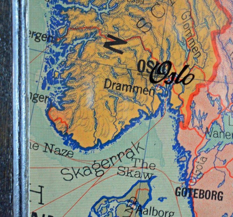 Vintage European Map Vintage Europe Map Art Circa