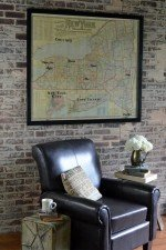 Vintage New York State map wall art
