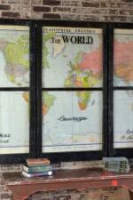 large vintage world map wall art