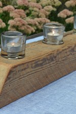 Natural Barn Beam Candle Holder