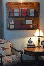 small periodicals book and magazine rack
