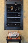 Vintage door wine rack
