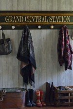Grand Central Station themed wall mounted coat rack