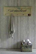 Vintage Bath Accessories Towel Rack w/5 vintage hose nozzels