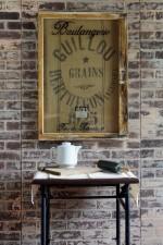Vintage French Kitchen Decor - French Grain Sack Wall Art