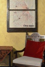 old Chicago map circa 1930s - stain frame, trips documented