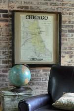 vintage Chicago railroad map