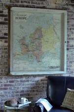 Large Vintage map of Europe