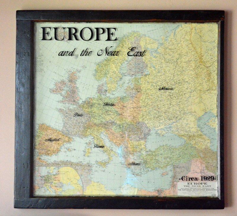 Vintage European Map Vintage Map Art European Map