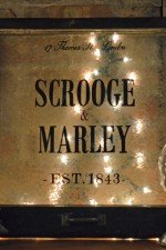 Scrooge & Marley holiday window - small (19.75 x 20.25)