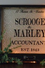 Scrooge and Marley themed window - 24 x 20