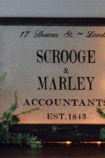 Scrooge and Marley window art - 28x20