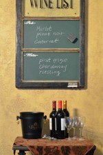 Wine Chalkboard - Wine list window chalkboard stain, green board
