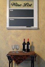 wine chalkboard window - whitewash with black chalboard 29x30