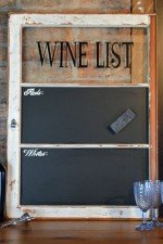 wine list chalkboard - painted frame, black chalkboard 23x32