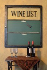 wine themed chalkboard window - stain frame, green chalkboard, 31x36