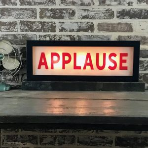 lighted applause sign