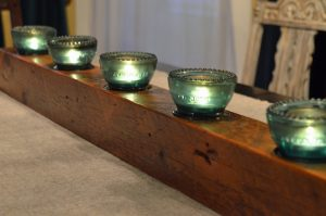 Reclaimed Beam Candle Holder