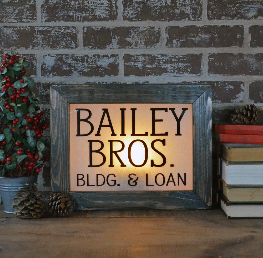 Bailey Bros Lighted Sign
