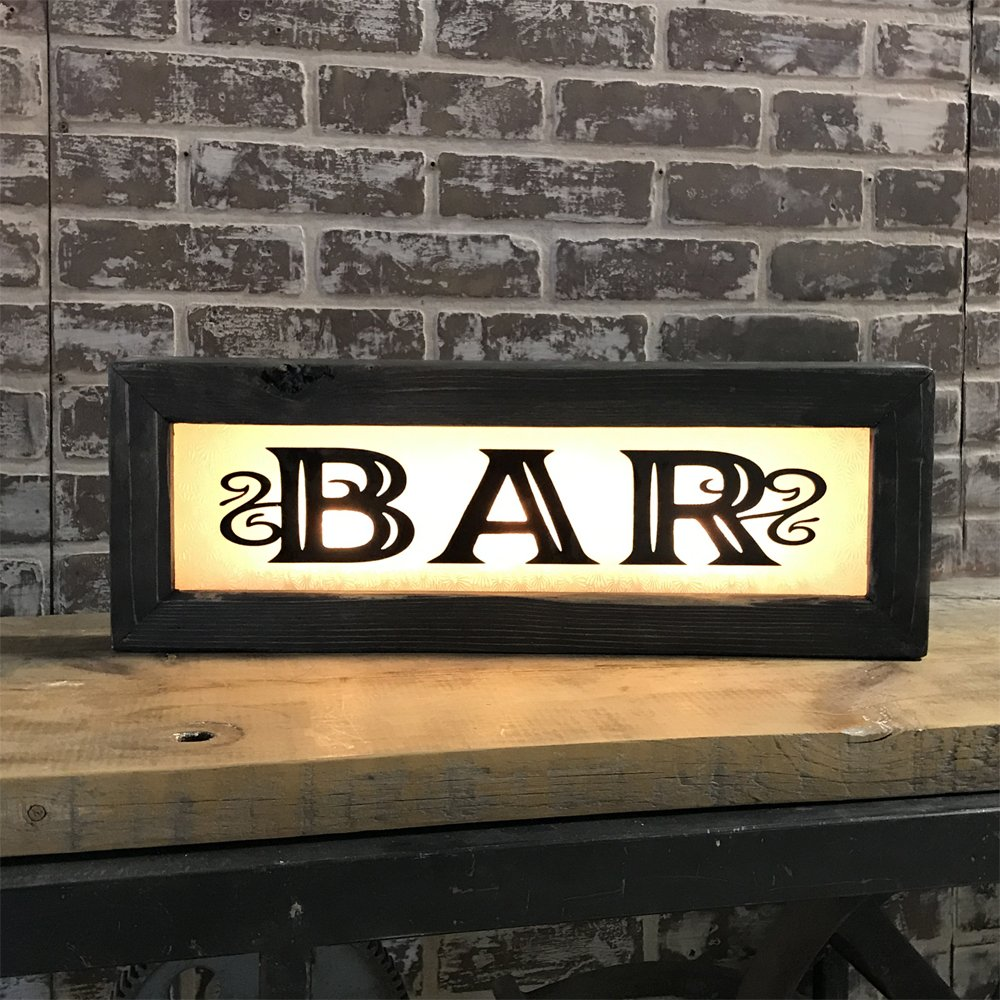 Vintage style lighted bar signs back lit for home