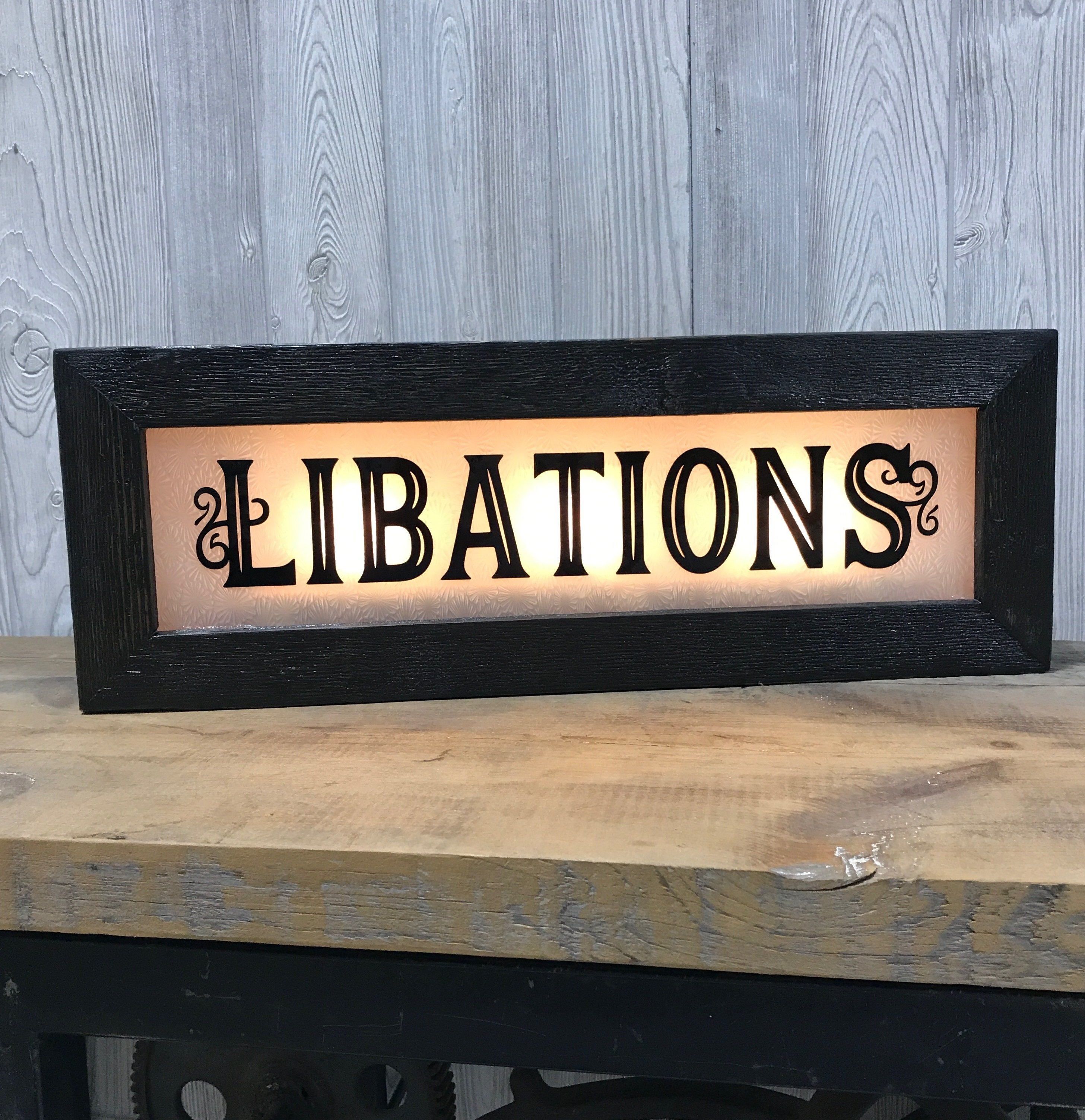 Vintage Style lighted bar signs - back lit signs for home