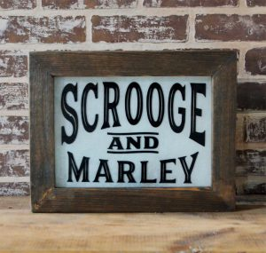 Scrooge & Marley Lighted Sign