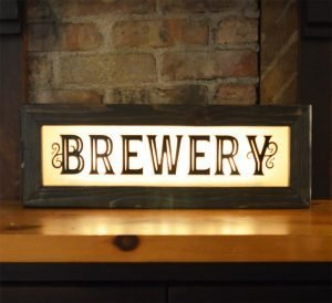Vintage Style Boxed Lighted Signs