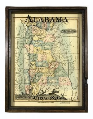 vintage Alabama map
