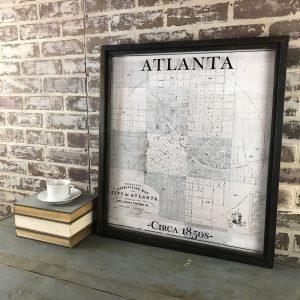 Vintage Atlanta map