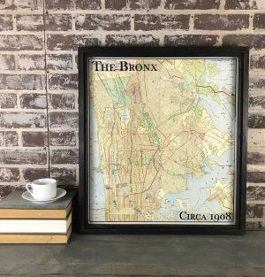 Vintage Bronx map