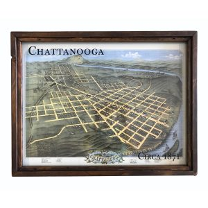 Vintage Chattanooga map