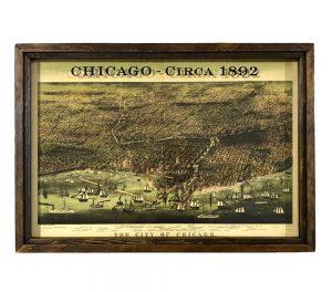 Map of Chicago circa 1892