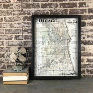 Chicago vintage map
