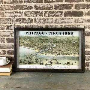 old framed Chicago map
