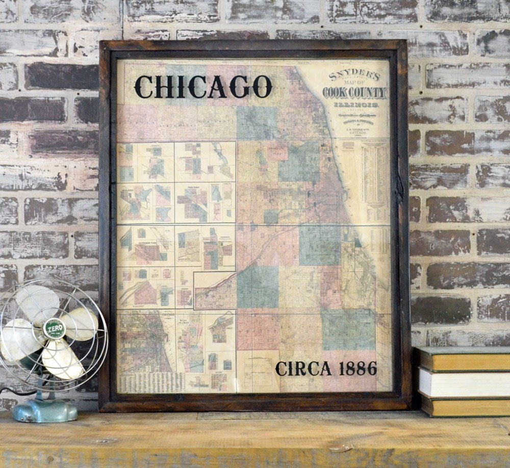 Reproduction Chicago map
