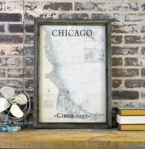 Chicago Lake Front Nautical Map
