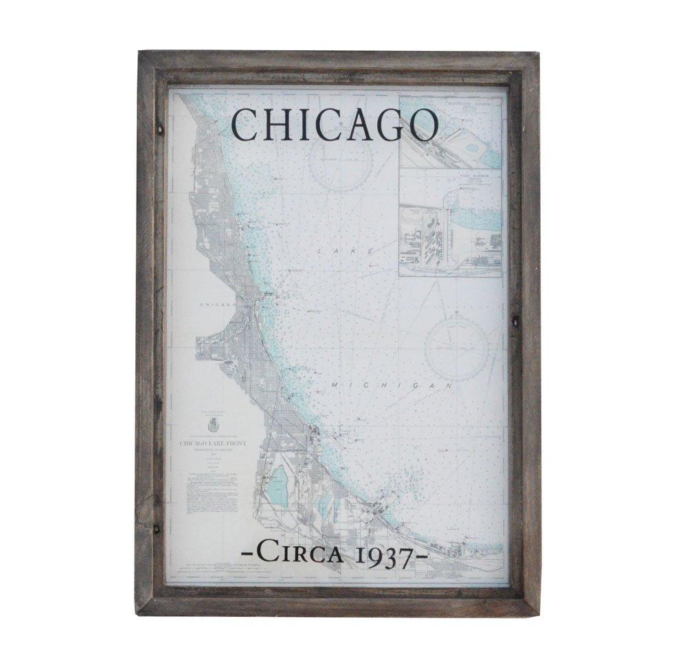 Chicago Lake Front Nautical Map