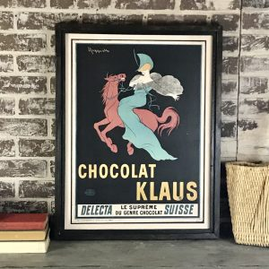 vintage chocolate advertisement poster