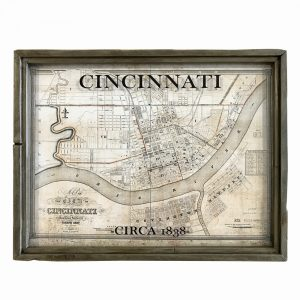 antique Cincinnati map