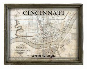 antique Cincinnati map