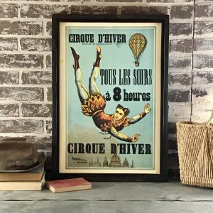 vintage French circus poster