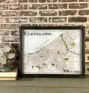 vintage Cleveland map