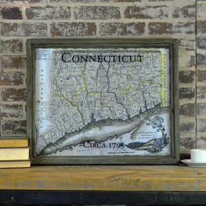 Vintage Connecticut Map