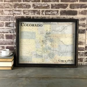 Vintage Colorado Map