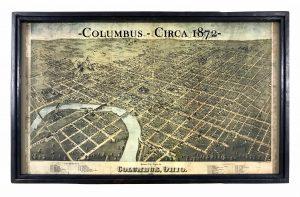 vintage Columbus map
