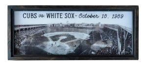 Vintage Chicago baseball game photo